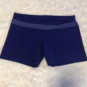 Like new royal blue Lululemon running/yoga shorts